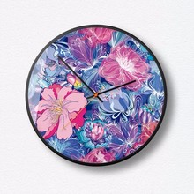 New 3D Wall Clock INS Flowers Creative Silent Movement Large Size Precise Sweep Modern Design Home Decor