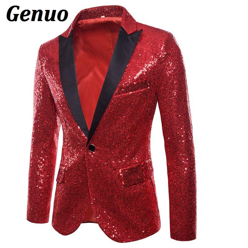 Noir Discothèque Hommes Blazers or Un Dj Stade Homme Bouton Bal Chanteur Costume Glitter rouge De Brillant Mens Blazer Or sliver bleu Sequin Veste pourpre qaUY0wC