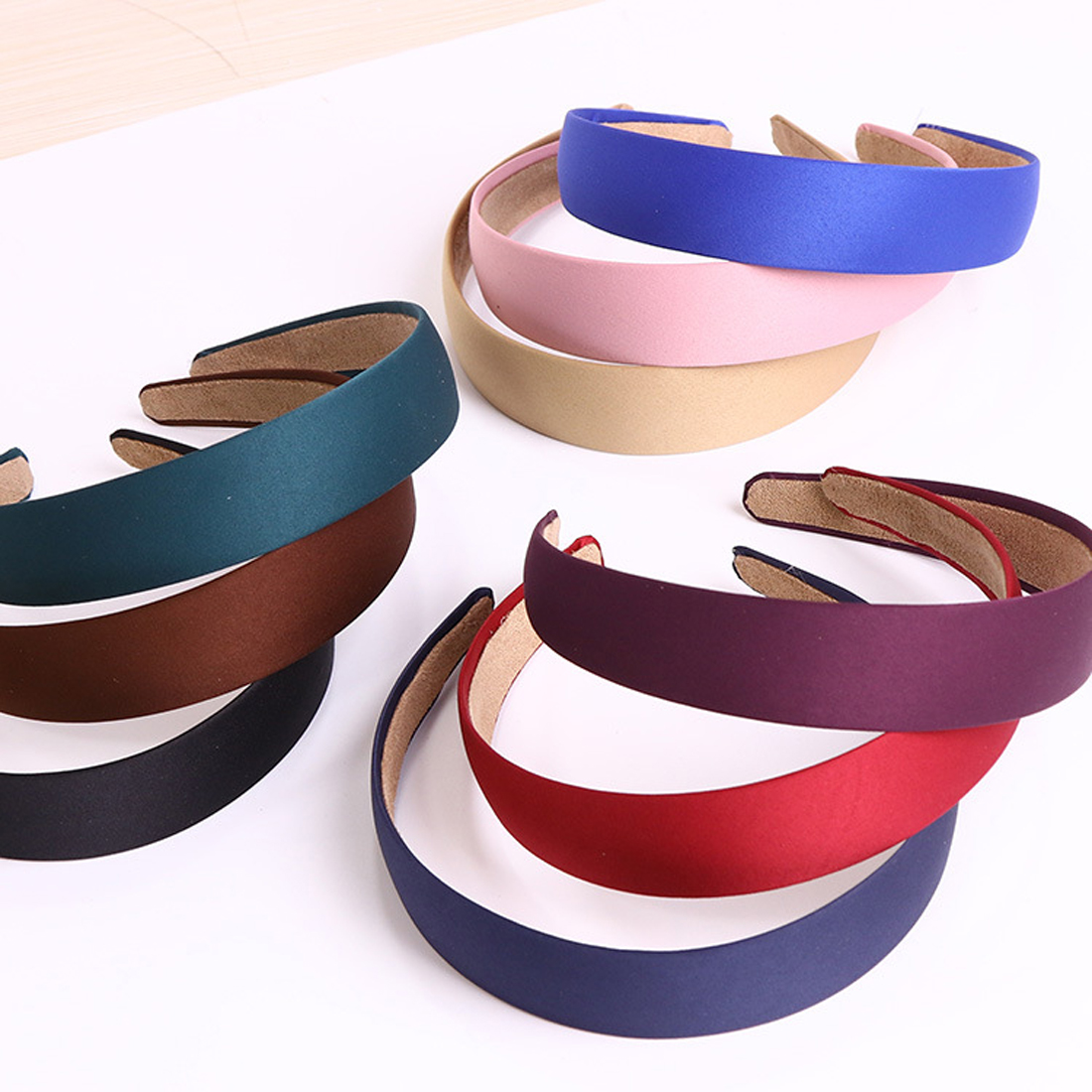 Women Lady Girl Canvas Wide Headband Hair Band Headwear Hairbands Boutique Hair Hoops For Jewelry Tiara Hair Accessories