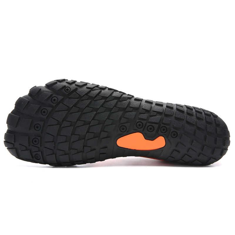 c9929d54bbc ... 2019 Aqua Shoes For Men Women Summer Swim Drain hole sole Rubber Non-slip  On ...