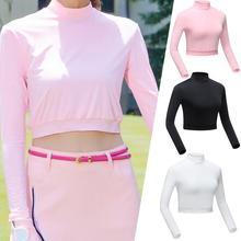 Гольф Защита от Солнца Анти-УФ для женщин Базовая рубашка женские спортивные рубашки Ice Silk эластичный быстросохнущие дышащий с длинным рукавом челнока