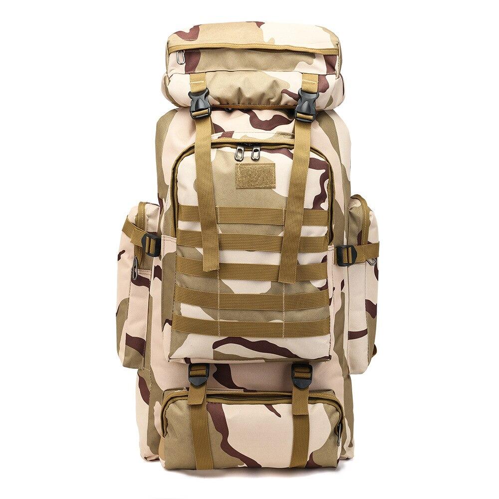 Grande capacité armée ventilateur bagages tactique Jungle Camping randonnée étanche sac à dos Oxford tissu numérique Camouflage sac à dos