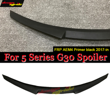 for BMW G30 spoiler Rear wing tail M4-style FRP Primer 520i 520d 530i 530d 540i 550i Spoiler Trunk Wing 2017+