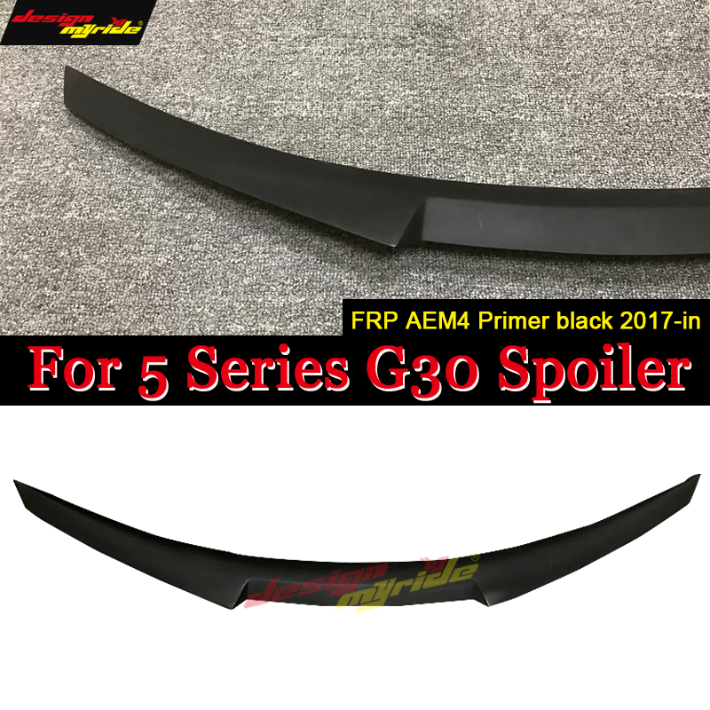 for BMW <font><b>G30</b></font> spoiler Rear wing tail M4-style FRP Primer <font><b>G30</b></font> <font><b>520i</b></font> 520d 530i 530d 540i 550i Rear Spoiler Rear Trunk Wing tail 2017+ image