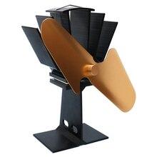 цена на 2 Blades Heat Power Wood Stove Eco Friendly Fan Home Wood Burner Fireplace Blower Fuel Coat Saving Stove Fan