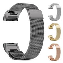 Milanese Magnetic Loop Stainless Steel Watch Band Strap for Fitbit Charge 2