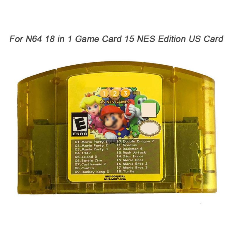 US 18 In 1 Game Card For Nintendo N64 Mario Party 1 2 3 Aggregation 15 NES Edition Support Game Saves Game Memory Card cheerlink 18 in 1 game memory card storage case for psvita black