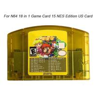 US 18 In 1 Game Card For Nintendo N64 Mario Party 1 2 3 Aggregation 15 NES Edition Support Game Saves Game Memory Card