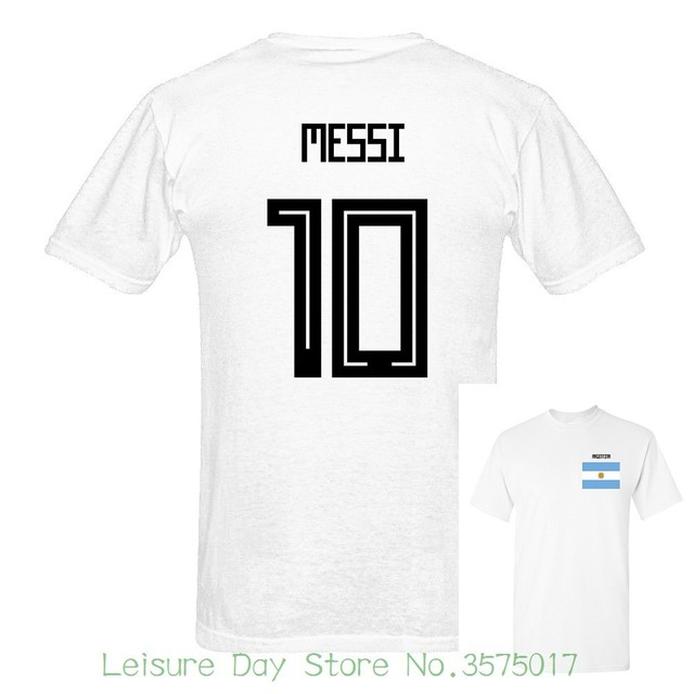 397bd4082 2018 Newest Argentina Messi Number 10 Russia World Match Cup 10 Colors T  Shirt Mens Fans