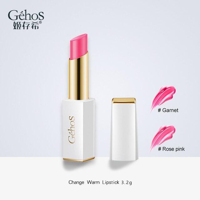 GEHOS Changement Chaud Rouge À Lèvres 3.2g Hydratant Changement de Couleur Étanche Longue Durée Maquillage Cosmétique Pigment Rouge À Lèvres Crayons