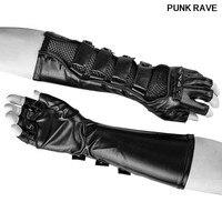 Steam Punk Rock Black Locomotive Long Gloves Gothic Fashion Men Rivets Leather Long Gloves Hot Selling punk rave S 214