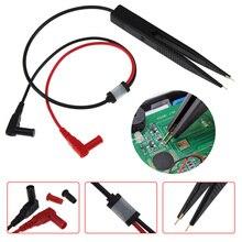 Тестовый зажим золотое покрытие индуктивность цифровой Пинцет автомобильный SMD индуктор SMT Чип для резистора конденсатор мультиметр зонд