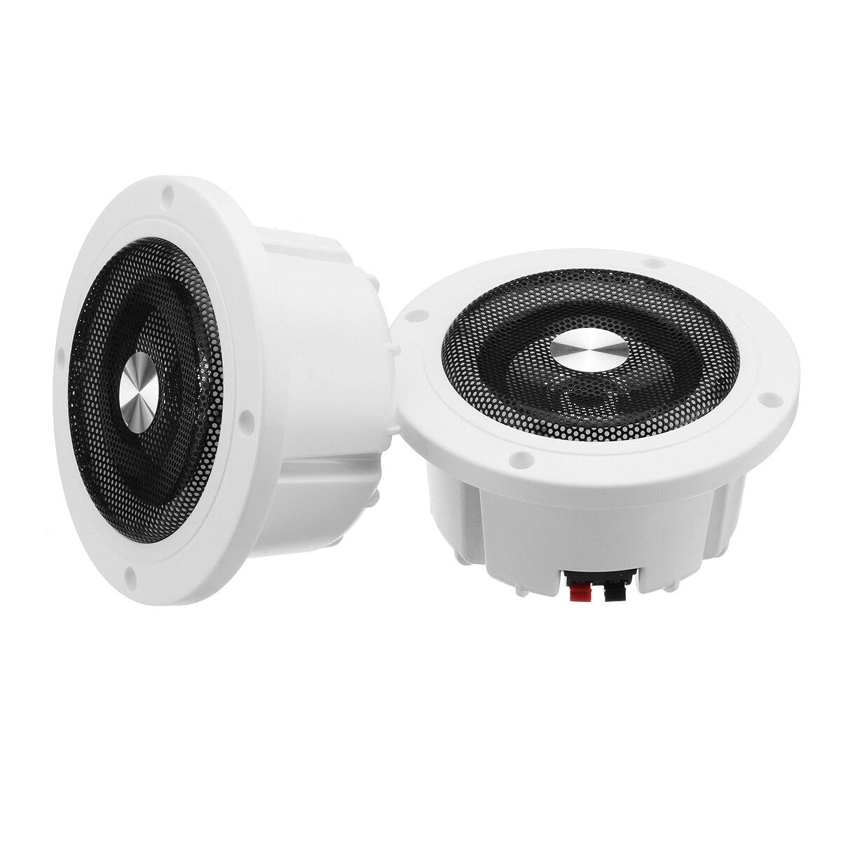 5,2 inch 60W Runde Decke In-Wand Home Audio Lautsprecher System Flush Mount Lautsprecher Mit Verstärker Decke Lautsprecher
