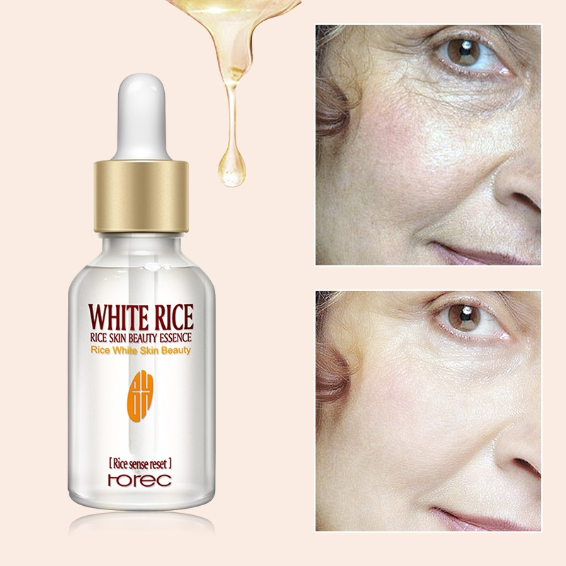Pure Rice Moisturizing Anti Aging Face Serum For Whitening Serum Deep Firming Nourishing Liquid Skin Care Essence TSLM2