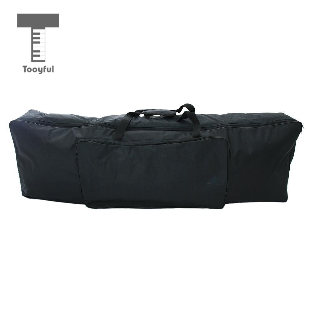 Tooyful 88 Key Keyboard Carry Bag Big Storage Case for Digital Electric Piano Black