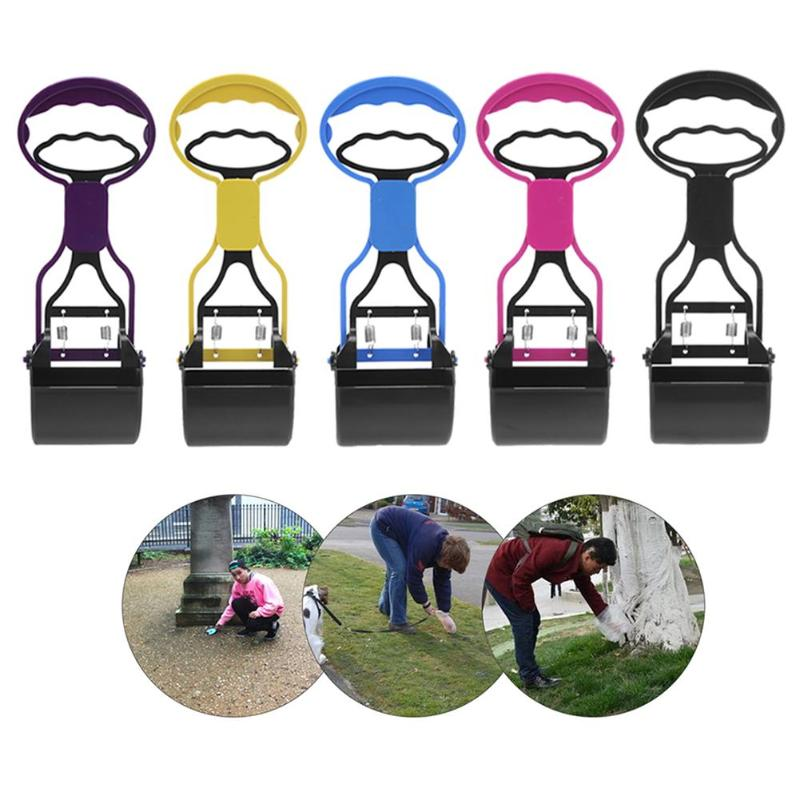 Pet Cat Dog Feces Cleaner Pooper Scooper Long Handle Jaw Poop Scoop Outdoor Waste Pick Up Dog Cleaning Products Собака