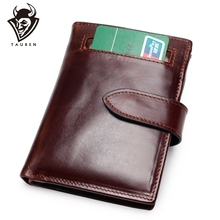 Rfid Genuine Leather Free Engraving Quality Wallet Men Real Wallets Coin Purse Short Male Money Bag Mini Walet Boys