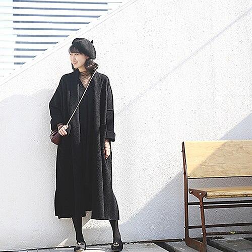 Bufanda Lana 2019 Khaki Existencias Moda Ropa Deep De Punto Chaqueta Mujer  Muerte Tejer Cuello Primavera Nueva Abrigo Largo Cálido ... c9dacdb77d89
