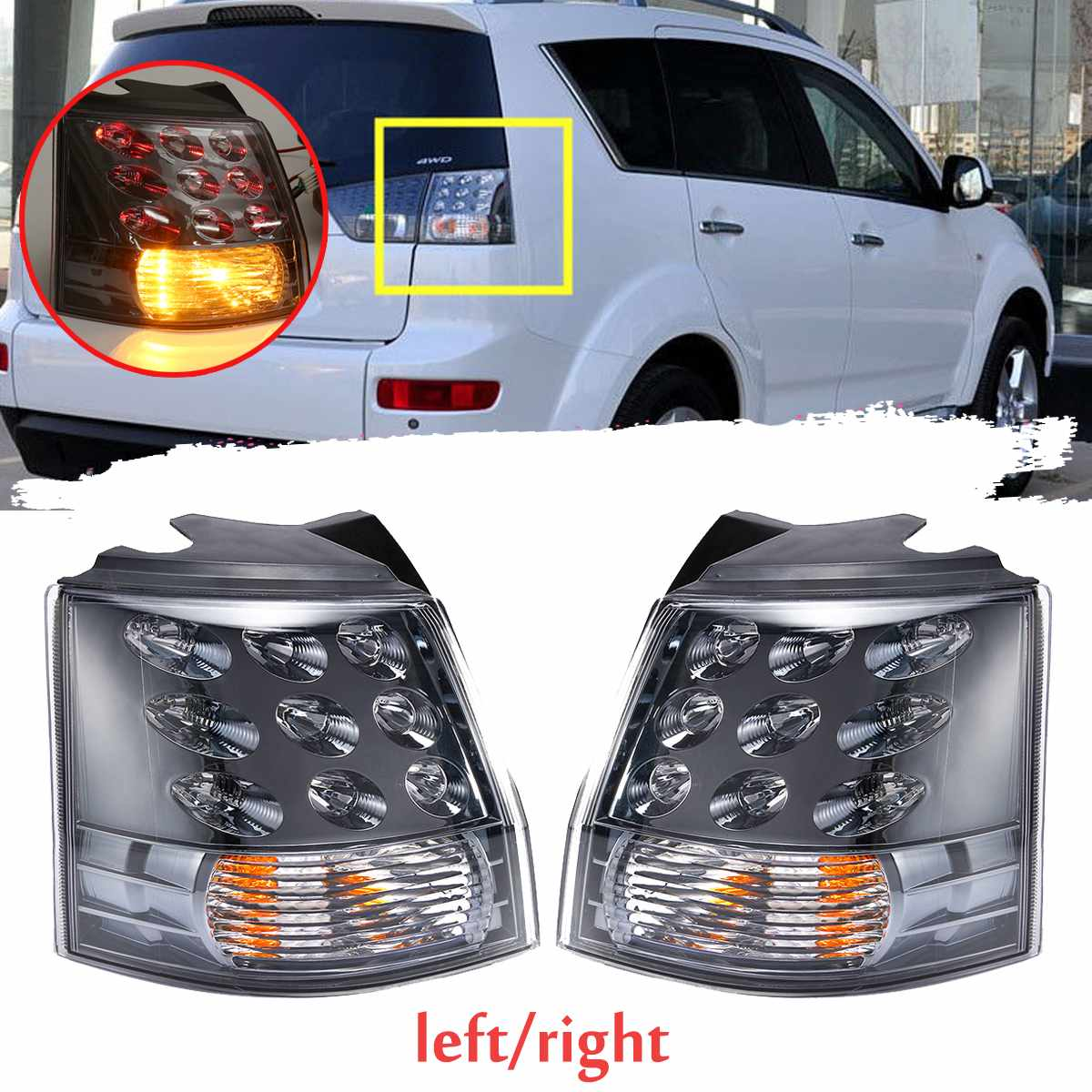 Rear Tail <font><b>light</b></font> Outer Outside Brake <font><b>Light</b></font> LED Lamp for <font><b>Mitsubishis</b></font> <font><b>Outlander</b></font> EX 2007 <font><b>2008</b></font> 2009 2010 2011 2012 2013 image