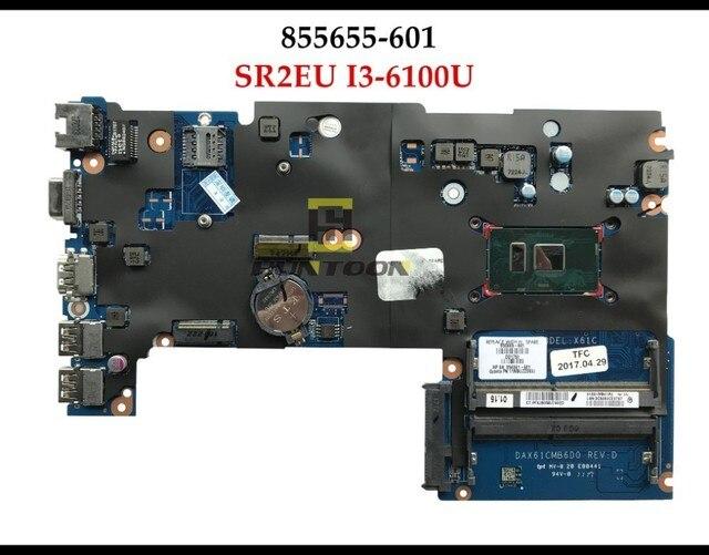 Wysokiej jakości DAX61CMB6D0 855655-601 dla HP Probook 440 G3 laptop płyta X61 SR2EU I3-6100U DDR4 100% w pełni przetestowane
