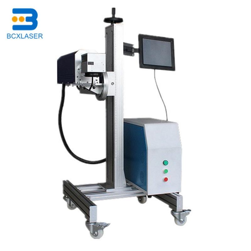 BCX Good Quality Fiber Flying Laser Marking Machine Online Print For HDPE PVC Pipe Tube