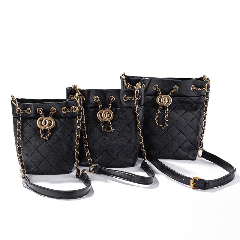 2019 nieuwe emmer tas luxe handtassen vrouwen tassen designer mode vrouwen tas voor meisje zak-in Top-Handle tassen van Bagage & Tassen op  Groep 1