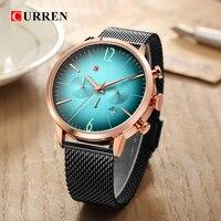 CURREN Sport Men Watches Top Brand Luxury erkek kol saati Quartz Wrist Watch Chronograph Black/Blue Stainless Steel Male Clock