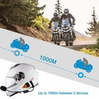 1000M Bluetooth 3.0 EDR Waterproof Motorcycle Helmet Interphone Intercom Radio Headset 750mAh Intercom moto Motorcycle Intercom