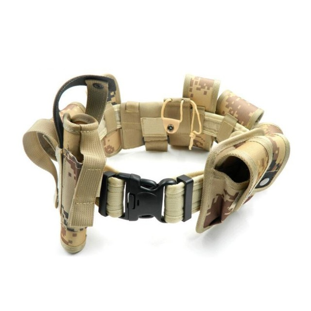 New camouflage Tactical Molle Belt Men's Army Special 1000D Nylon military belt Convenient combat Girdle Adjustable Soft Padded 1