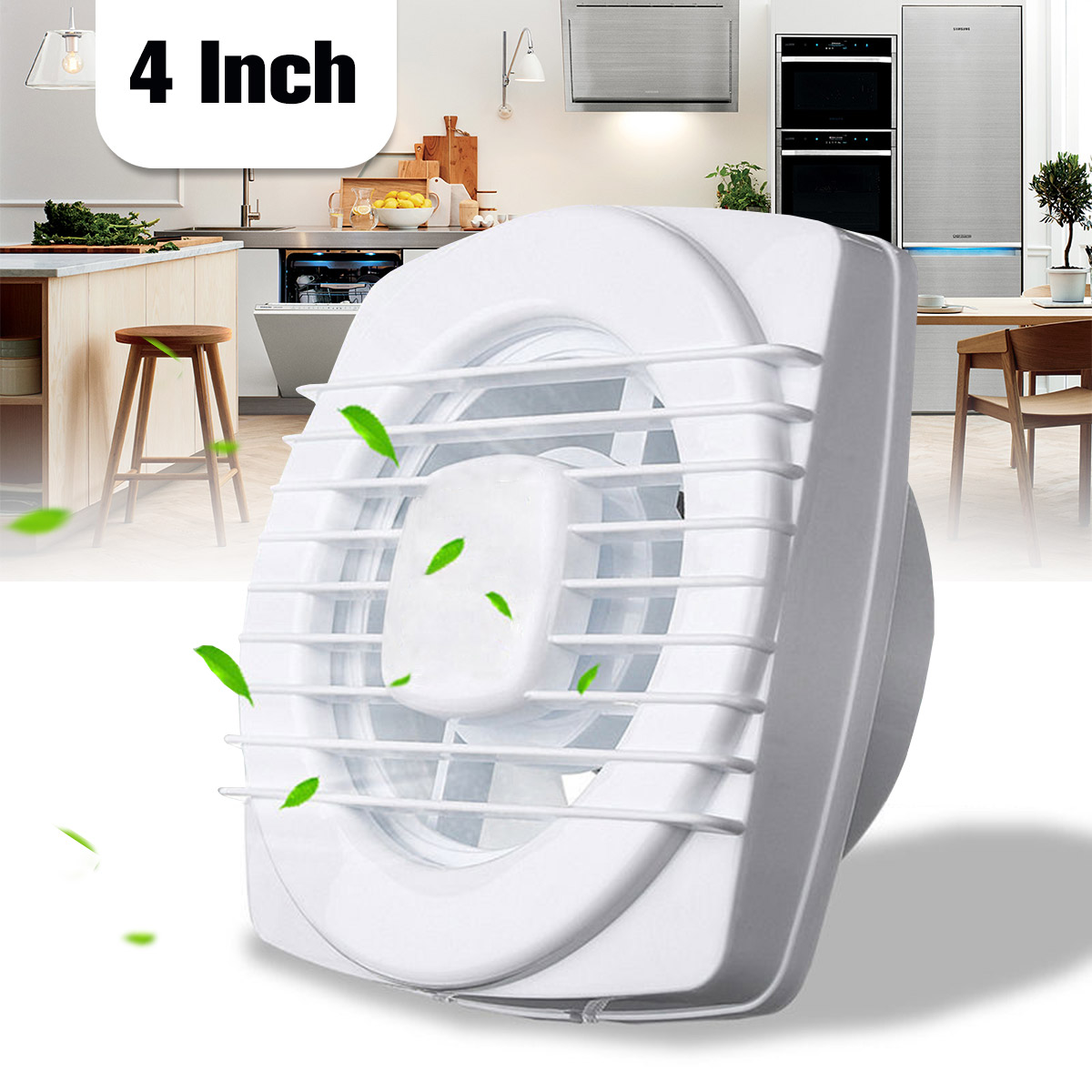 4 Inch 220V 12W Ventilating Exhaust Extractor Fans Plastic ...