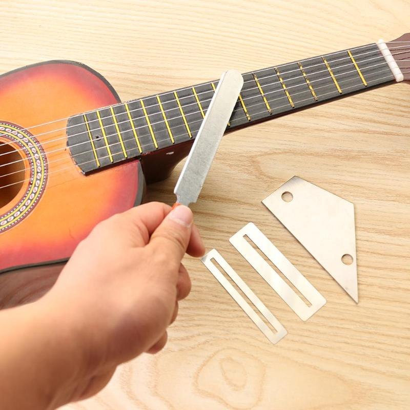 4x Professionelle Gitarre Repair Tool Luthier Tool 2 In 1 Gitarre Fret
