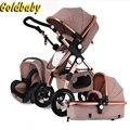 Gold Baby Kinderwagen 2in1 3in1 Baby Auto Sitze Russland kostenloser versand