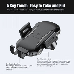 Image 5 - Qi Car Wireless Charger Phone Holder For Ulefone Armor X 6 Power 5 5S Leagoo Power S10 5 Fast Wireless Charging Phone Stand
