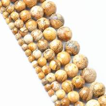 For Necklace Bracelet New DIY 4-12mm Natural Brown Stone Jewelry Making Space Loose Beads(China)