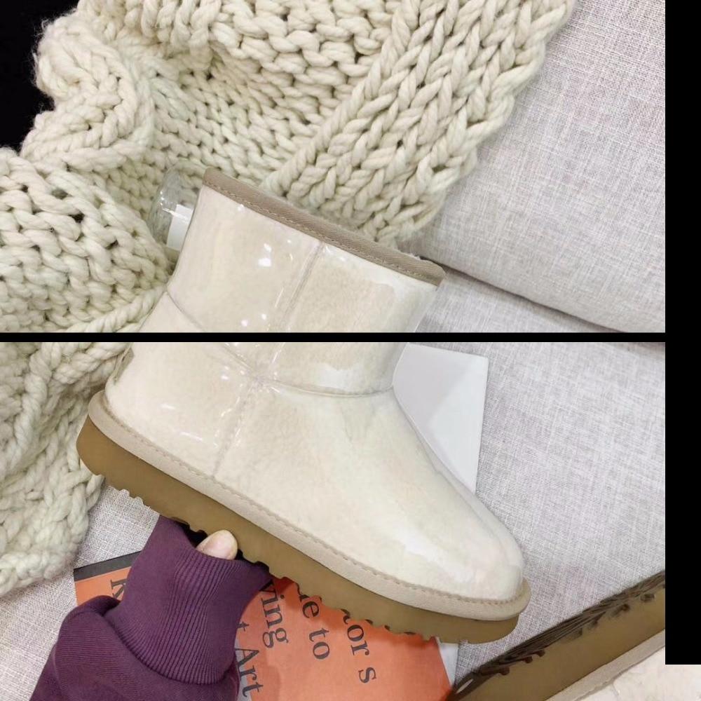 Naturel Populaire Bottes Printemps Pour Réel Mouton 2019 Bérets L'europe Femmes chaussures Peau Neige Caoutchouc Les Étanche Demi Plus De D'été En 66rxFqwR