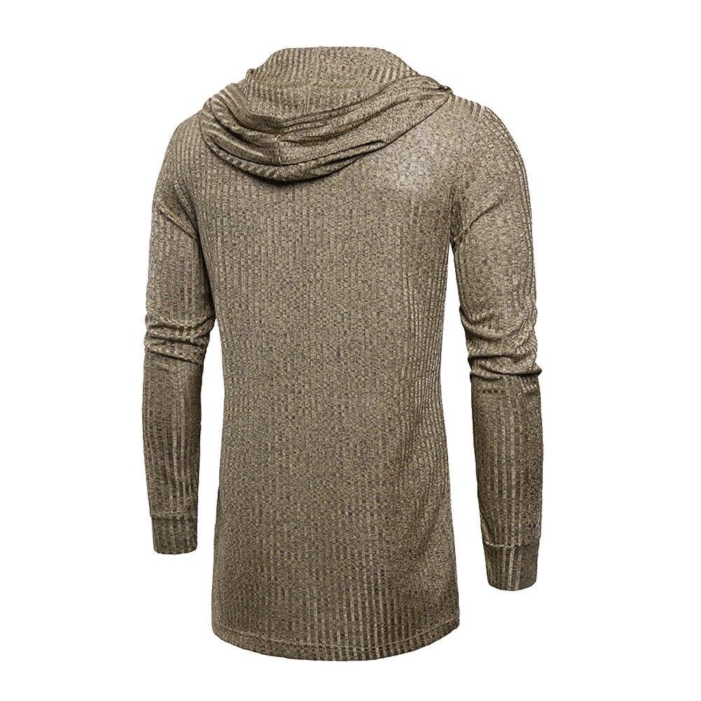 Sweater Cardigan Men 2018 Male Brand Casual Slim Sweaters Men Solid Hooded Pockets Men's Sweater Plus Size XXXL 6