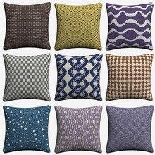 Elegant Simple Nordic Lines Decorative Pillow Case For Sofa 45x45cm Linen Cushion Cover Home Decor Throw Pillow Covers Almofada недорого