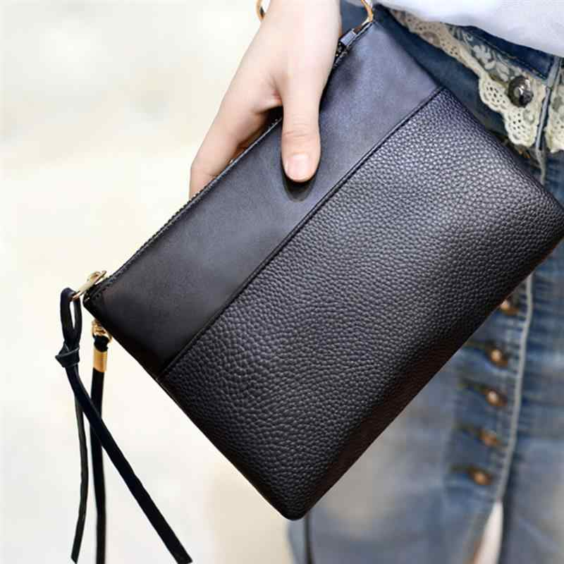 b3f836cc50ab Detail Feedback Questions about Simple Black Female Crossbody Bags Casual  PU Leather Clutch Bag For Girls Messenger Bag Cheap Women s Clutch Bag on  ...
