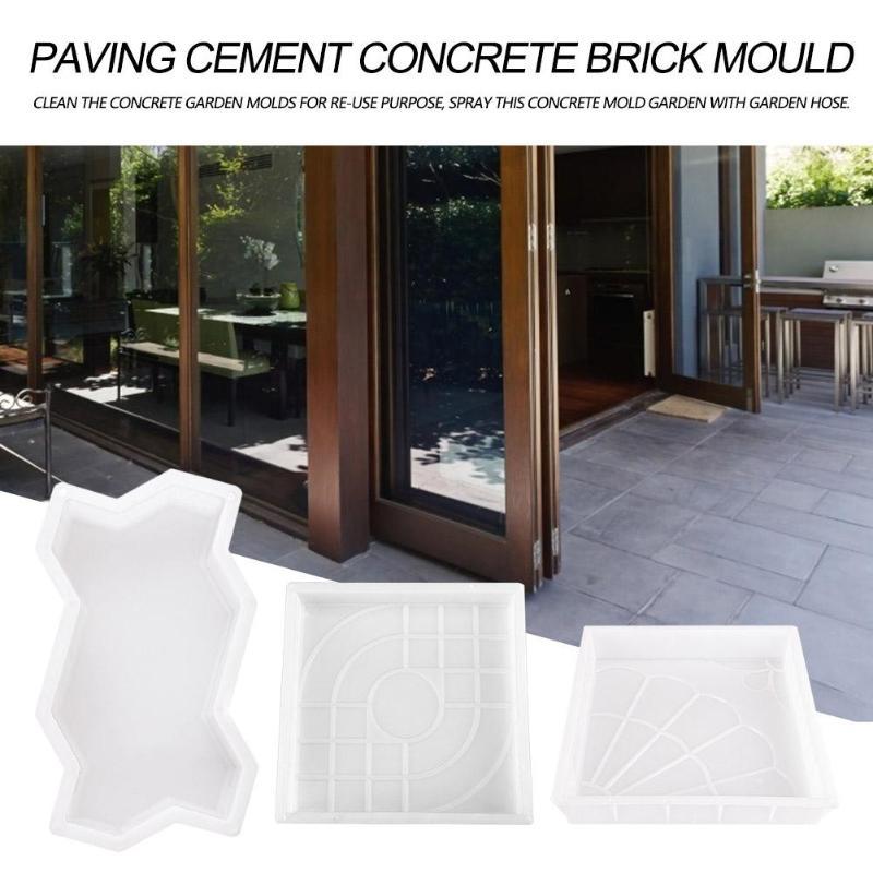 White Garden Pavement Mold Garden Walk Pavement Concrete Mould DIY Manually Paving Cement Brick Stone Road Concrete Molds