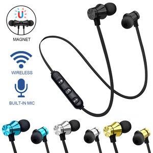Image 2 - Беспроводные наушники, Bluetooth гарнитура, магнитные наушники, водонепроницаемые спортивные наушники с микрофоном для iPhone, Sony, Xiaomi, Meizu, игровая гарнитура