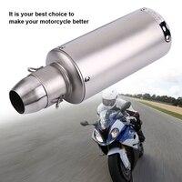Universal Motorcycle Exhaust Muffler 51mm Motorcycle Slip on Exhaust Muffler Rear Pipe Tailpipe NEW
