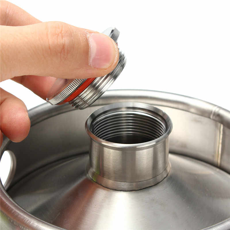 2/3/4/5/10L Stainless Steel Mini Beer Keg Pressurized Growler for Craft Beer Dispenser System Home Brew Beer Brewing