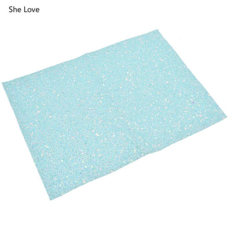 She Love A4 лист массивная блестящая ткань с блестками искусственная кожа ткань для бантов Diy украшения