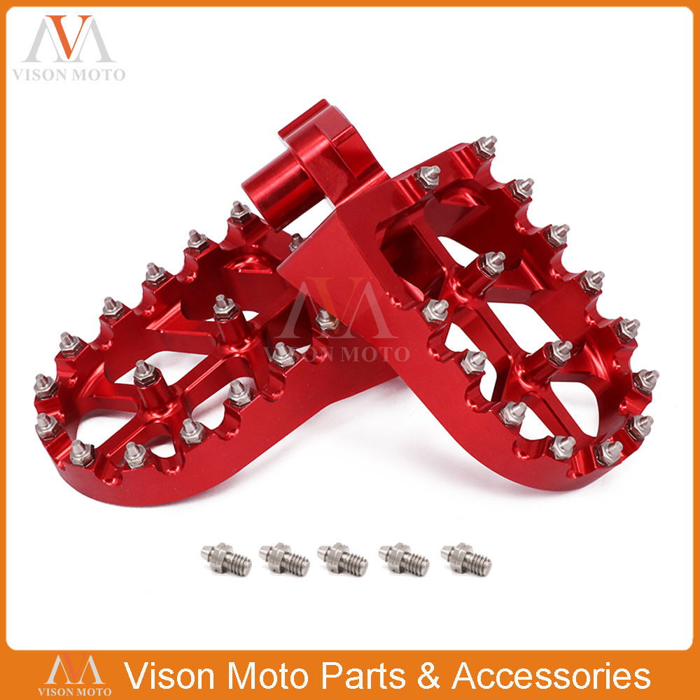 Billet MX Foot Peg Rest Pedal Footpeg For Husqvarna SMR TC TE TXC 450 510 511 570 610 SMR450 TC450 TE450 SM450R SM450RR TXC450