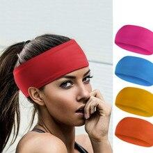 82d5b5c5a461c Solide Yoga Stirnbänder Bbreathable Sport Schweißband Gym Stretch Stirnband  Haar Band Boxen Run Fitness Schweißband Kopf