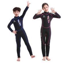 Niños traje de buceo de neopreno de 3 MM traje de los niños mantener  caliente Snorkeling dd60643c80d