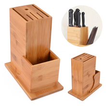 Multifunctional Wood Kitchen Knife Utensil Holder Block Storage Rack Tools Organizer Accessories