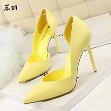 Женские туфли-лодочки; модная обувь на высоком каблуке; цвет черный, розовый, желтый; женская свадебная обувь для невесты