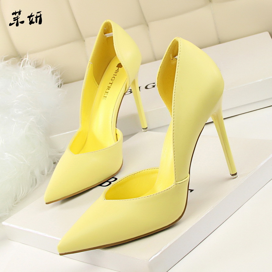 512733251c Women Pumps Fashion High Heels Shoes Black Pink Yellow Shoes Women Bridal  Wedding Shoes Ladies