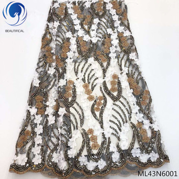 BEAUTIFICAL sequin lace african fabric lace latest african laces 2019 with small flowers design quality free shipping ML43N60